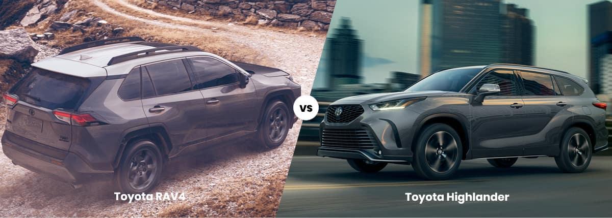 2021 Toyota RAV4 vs Highlander | Dimensions, MPG, Price | SUVs