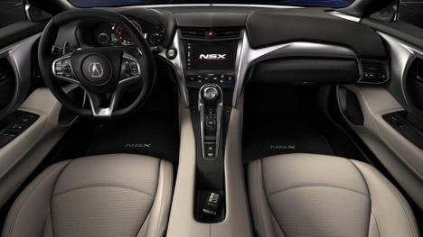 Interior of 2017 NSX at Acura Pickering