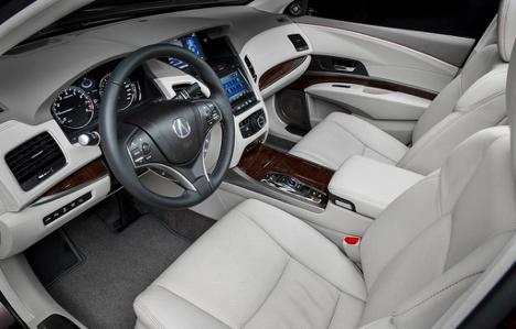 Interior of 2017 RLX Elite at Acura Pickering