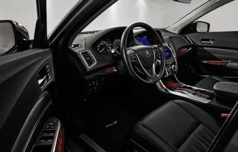 Interior of 2017 TLX Technology package at Acura Pickering