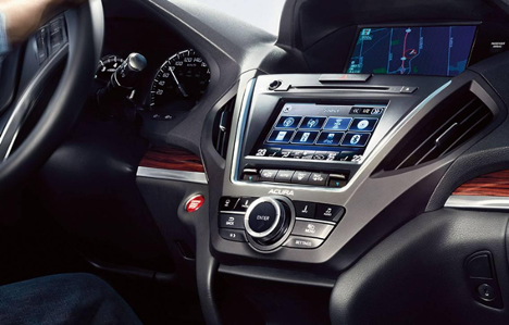Interior of 2017 MDX WITH NAVI at Acura Pickering