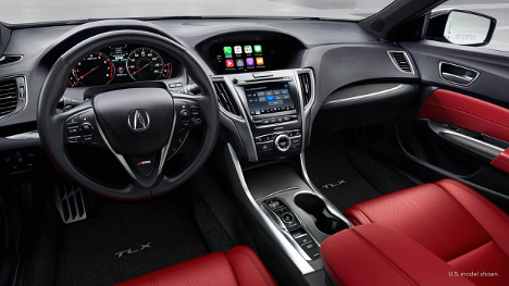 Interior at 2018 Acura TLX SH-AWD Elite A-Spec at Acura Pickering