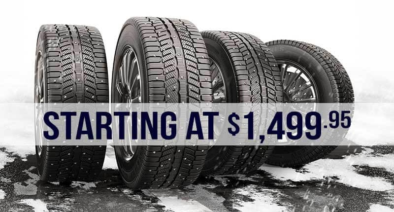 Winter Tire Packages starting at $1,499.95