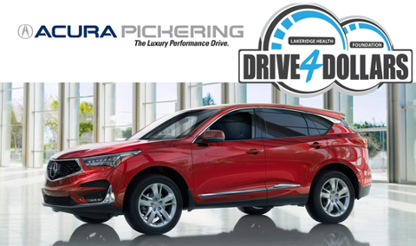 Acura Pickering proudly supports Drive 4 Dollars