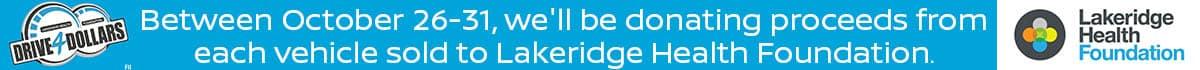 Lakeridge Health Drive4Dollars at Acura Pickering