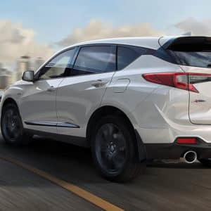2021 Acura RDX White Exterior Back available at Acura Pickering
