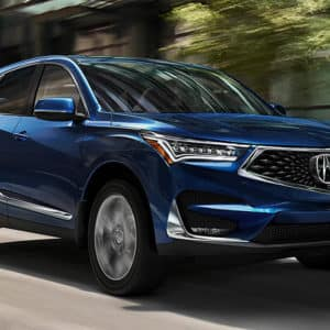 2021 Acura RDX Blue Exterior Front available at Acura Pickering
