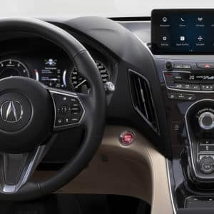 2021 Acura RDX Interior Front available at Acura Pickering