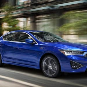 2020 Acura ILX Blue Exterior Front Side - Acura Pickering