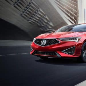 2020 Acura ILX Red Exterior Front Side - Acura Pickering