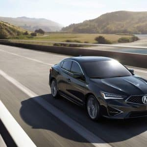 2020 Acura ILX Black Exterior Front Above - Acura Pickering