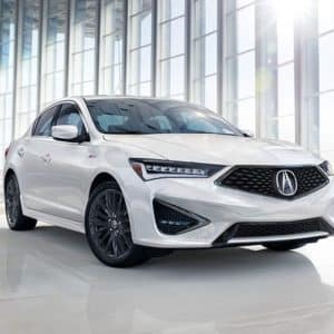 2020 Acura ILX White Exterior Front Side - Acura Pickering