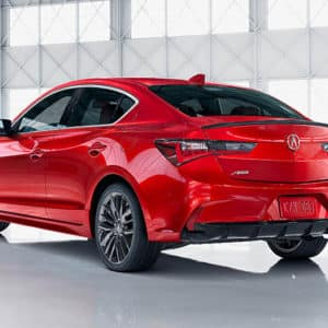2020 Acura ILX Red Exterior Back - Acura Pickering