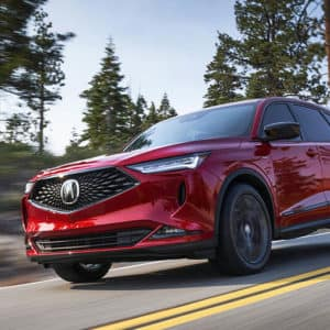 2022 Acura MDX Red Exterior - Acura Pickering