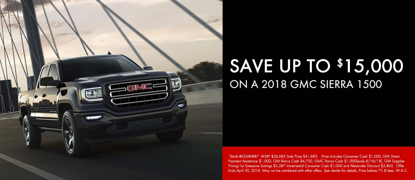 April 2018 Sierra 1500 Offer Slide