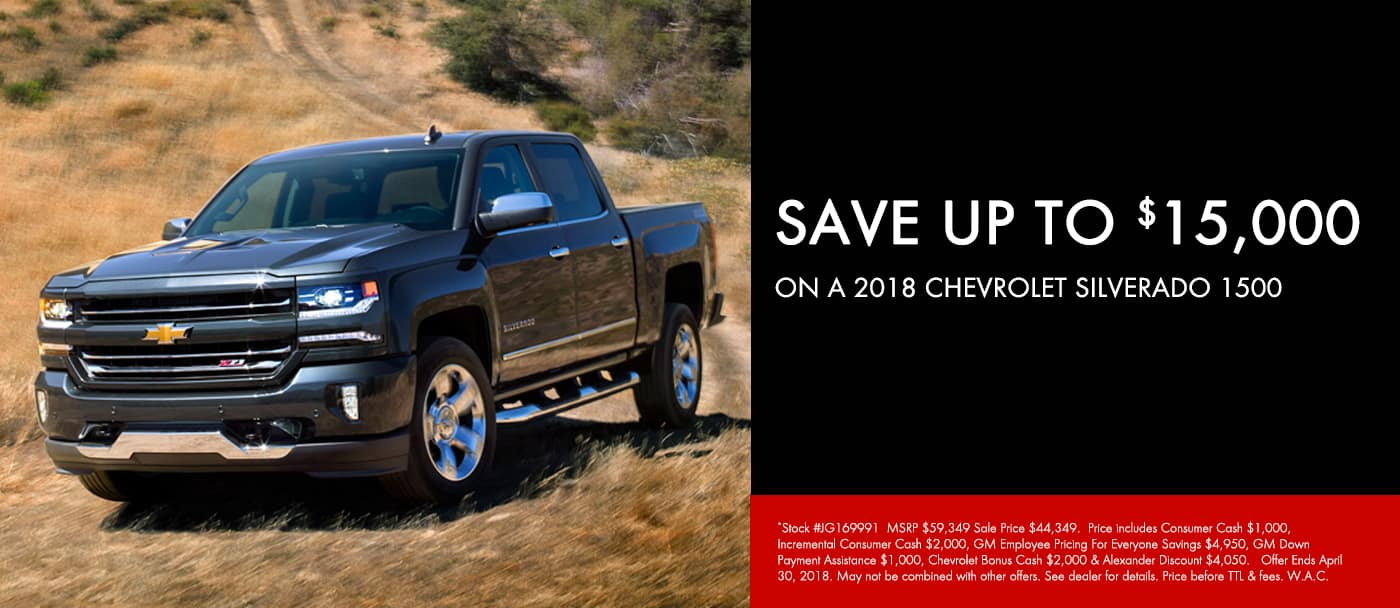 April 2018 Silverado 1500 Offer Slide
