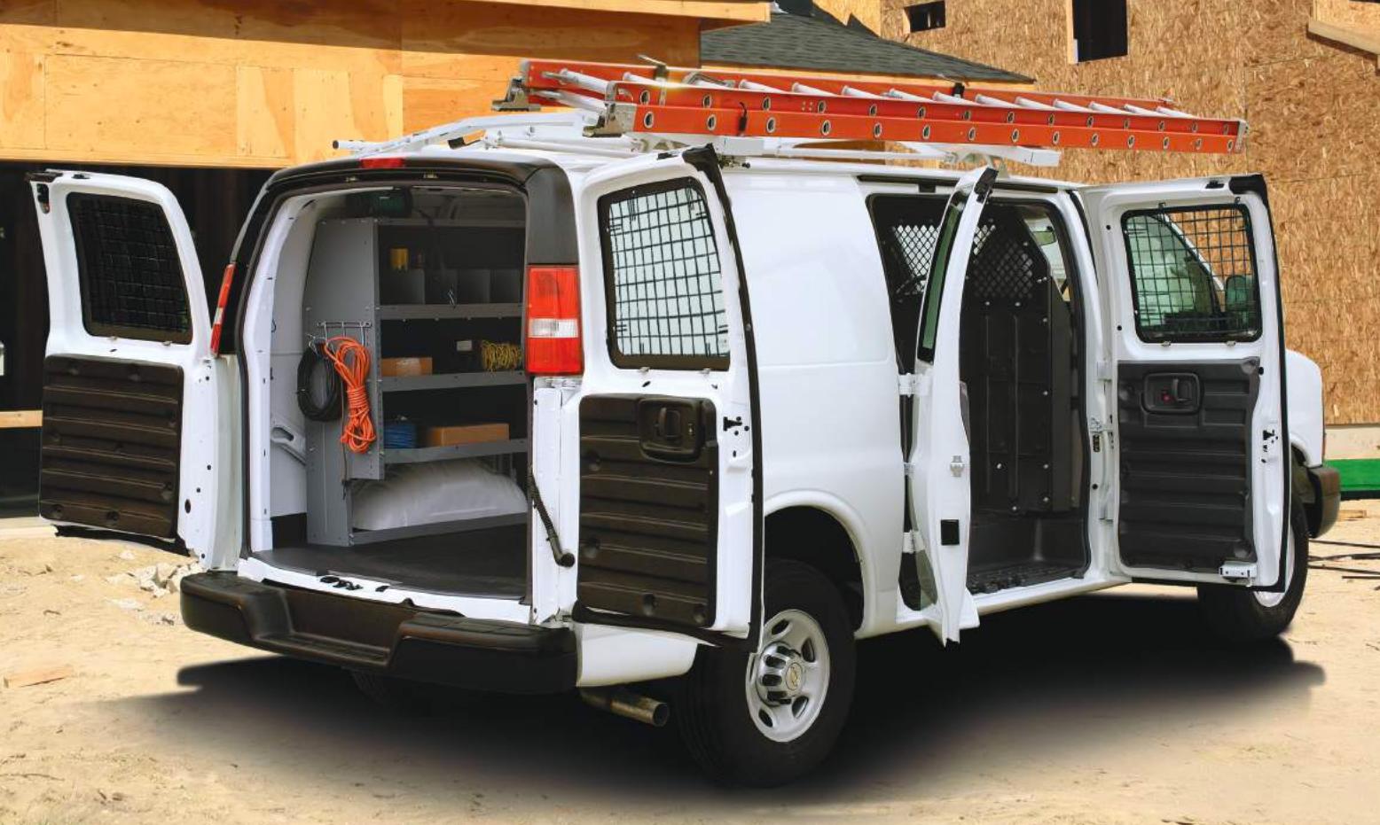 Commercial Van Interiors >> Masterack Commercial Van Equipment Ladder Rack Interior