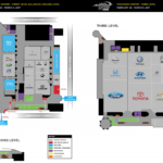 Floor Plan for the 2017 Greater Milwaukee Auto Show- Andrew Toyota, Milwaukee WI