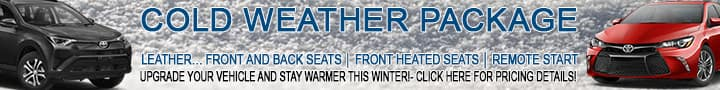Treat Yourself to the Cold Weather Package at Andrew Toyota in Milwaukee, Wisconsin.