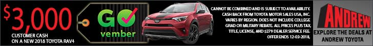 Check out the new 2018 Toyota RAV4 deals at Andrew Toyota in Milwaukee, Wisconsin.