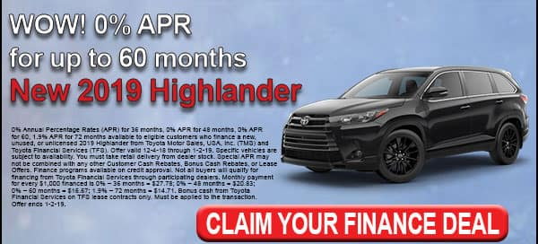Click here and view our Highlander deals at Milwaukee's Andrew Toyota in Glendale, Wisconsin.