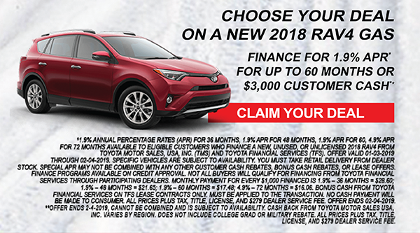 Month end Toyota deals are at Milwaukee's Andrew Toyota in Glendale, Wisconsin.