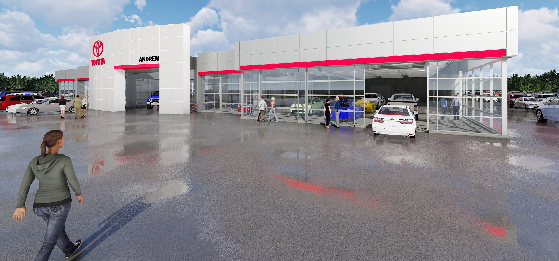 The dealership, located at 1620 West Silver Spring Drive, will be expanding its service area by over 35%. A fourth service lane entrance is to be added as well as 12 new state-of-the-art technician bays, environmentally friendly lighting, and a special vehicle delivery area. Additional administrative office space will also be included in the expansion.