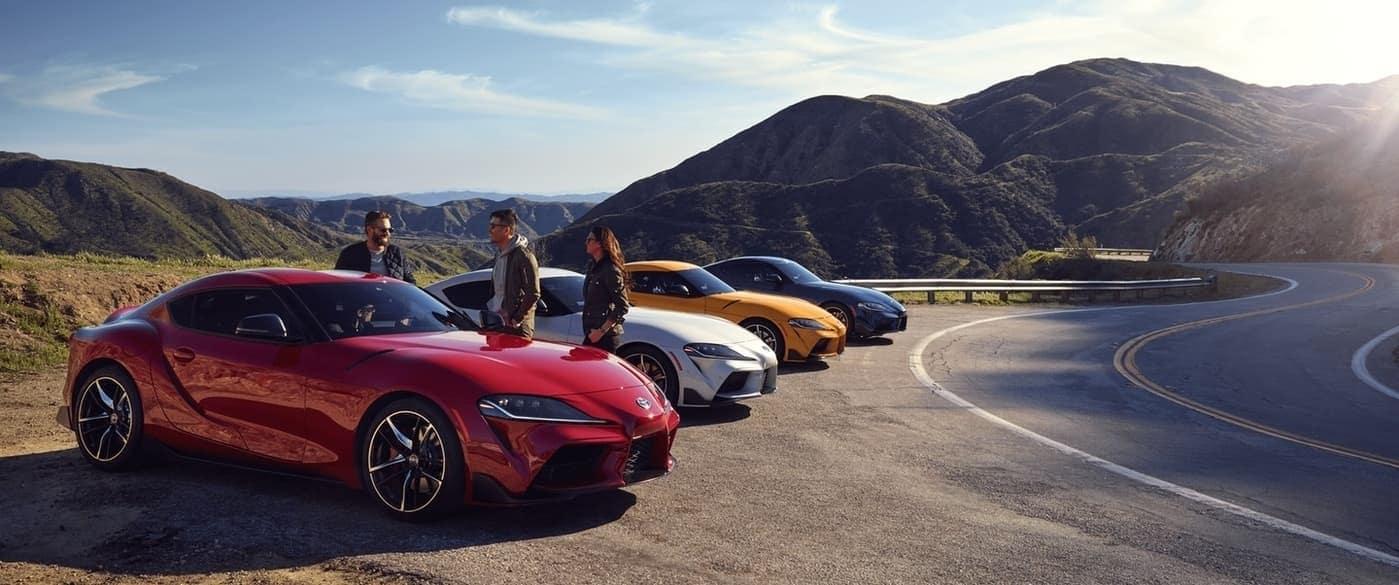 2020 Toyota GR Supra model lineup colors