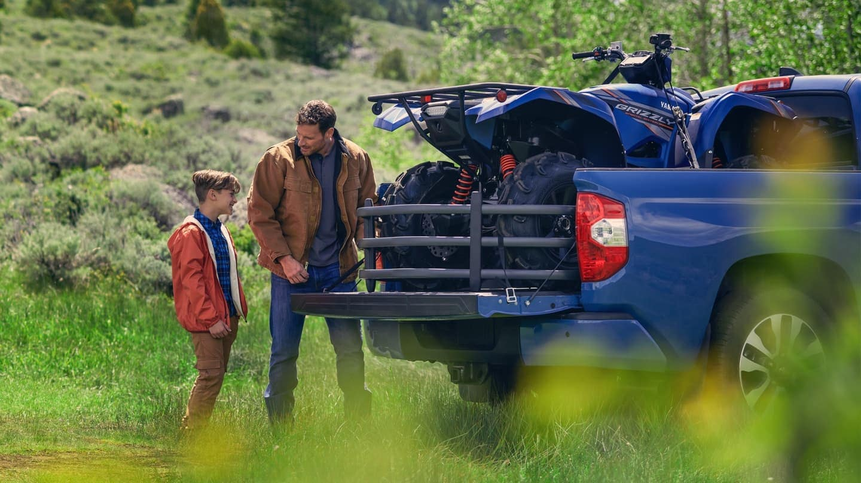 2020 Toyota Tundra hauling an RTV