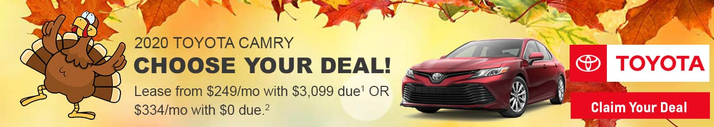 Claim your 2020 Camry lease deal at Milwaukee's Andrew Toyota.