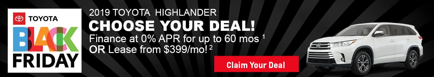 Check out the new 2019 Highlander deals at Milwaukee's Andrew Toyota in Glendale.