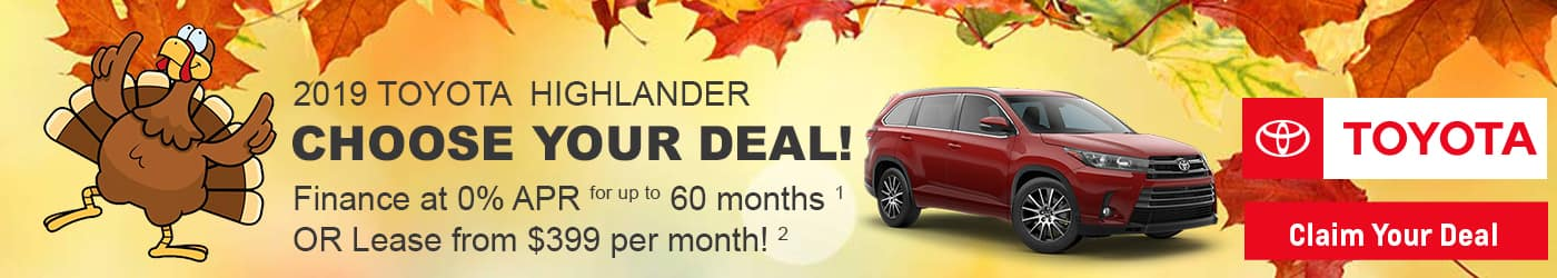 Check out the new Highlander deals at Milwaukee's Andrew Toyota in Glendale.