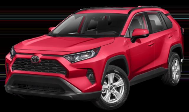 2019 Red Toyota RAV4