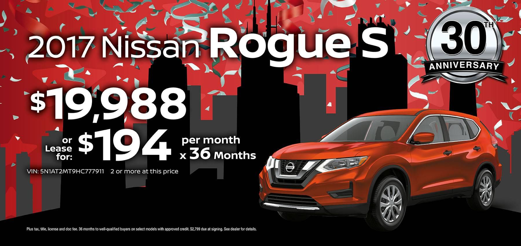 2017 Nissan Rogue June Sale at Berman Nissan of Chicago