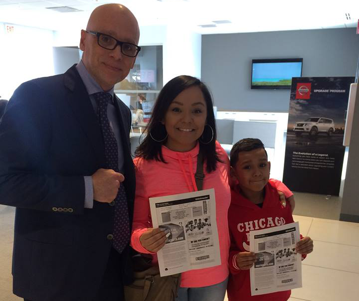 Berman Nissan of Chicago gives out free Bulls tickets!