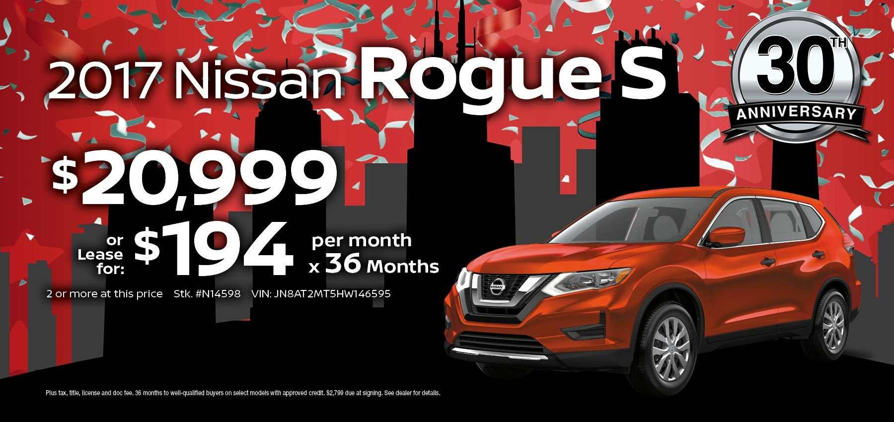 2017 Nissan Rogue July Sale at Berman Nissan of Chicago