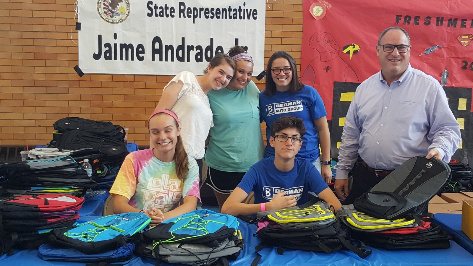Berman Nissan of Chicago delivers backpacks to Roosevelt High School's Back to School Fair