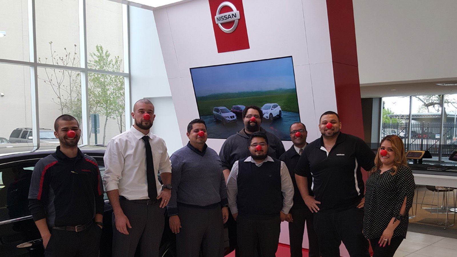 Berman Nissan of Chicago Supports Red Nose Day