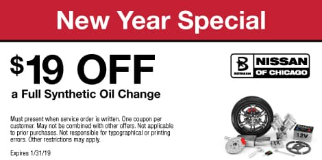 New Year Special: $19 OFF a Full Synthetic Oil Change