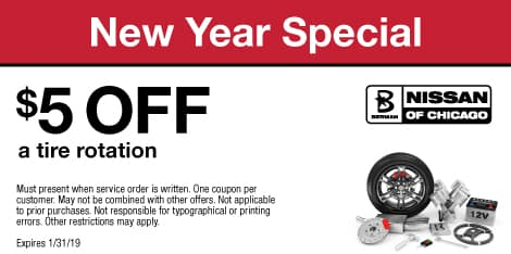 New Year Special: $5 OFF a tire rotation
