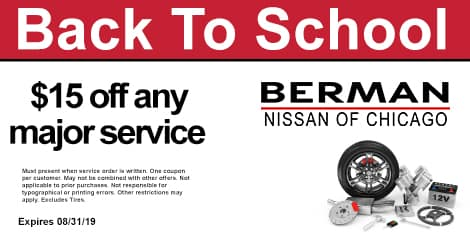 Back To School Special: $15 OFF any major service