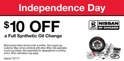 $10 OFF a Full Synthetic Oil Change