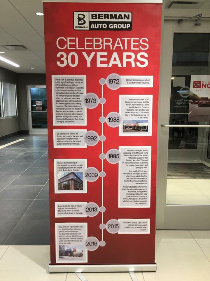 Berman Auto Group celebrates 30 years in business;