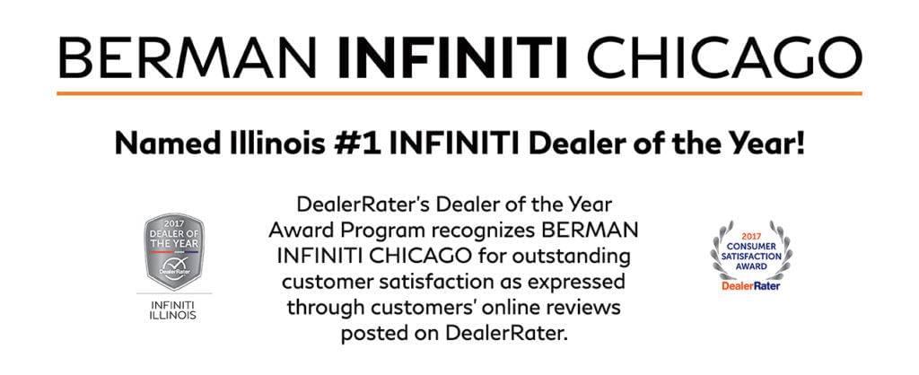 Berman INFINITI Chicago Named Illinois INFINITI Dealer Of The - Infiniti dealers chicagoland