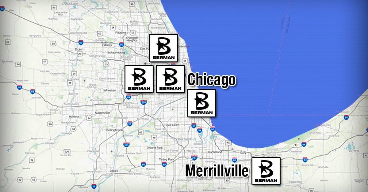 Berman Auto Group Locations Map