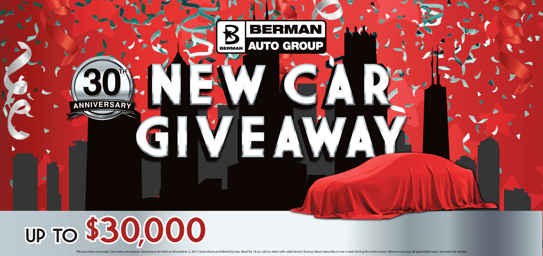New Car Giveaway at Berman Nissan of Chicago!