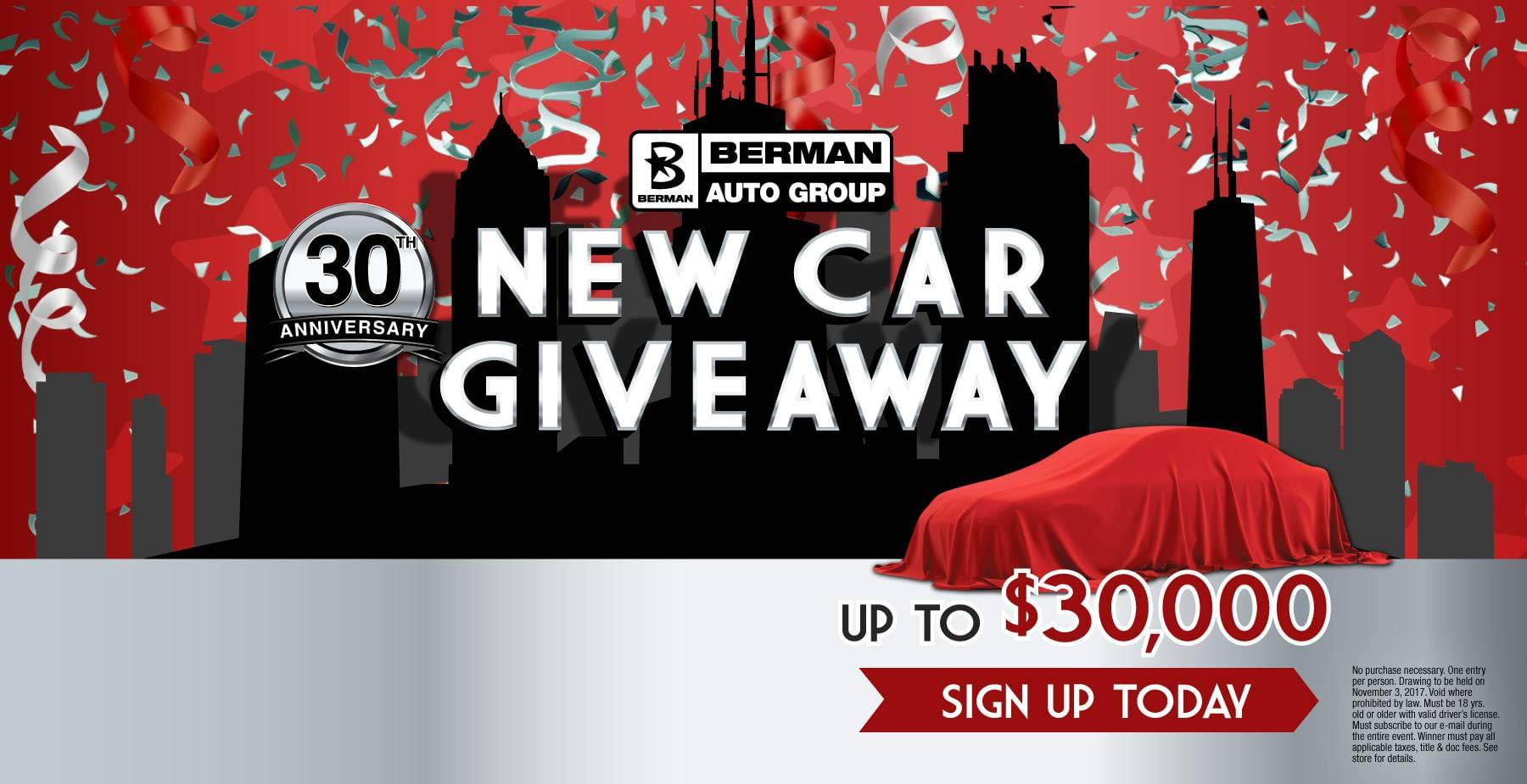 New Car Giveaway