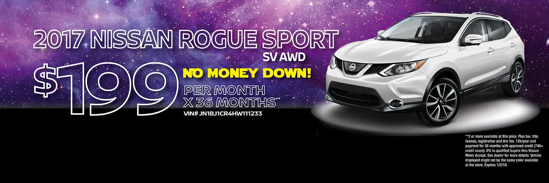 Berman Nissan of Chicago December Holiday Sale 2017 Nissan Rogue Sport Offer