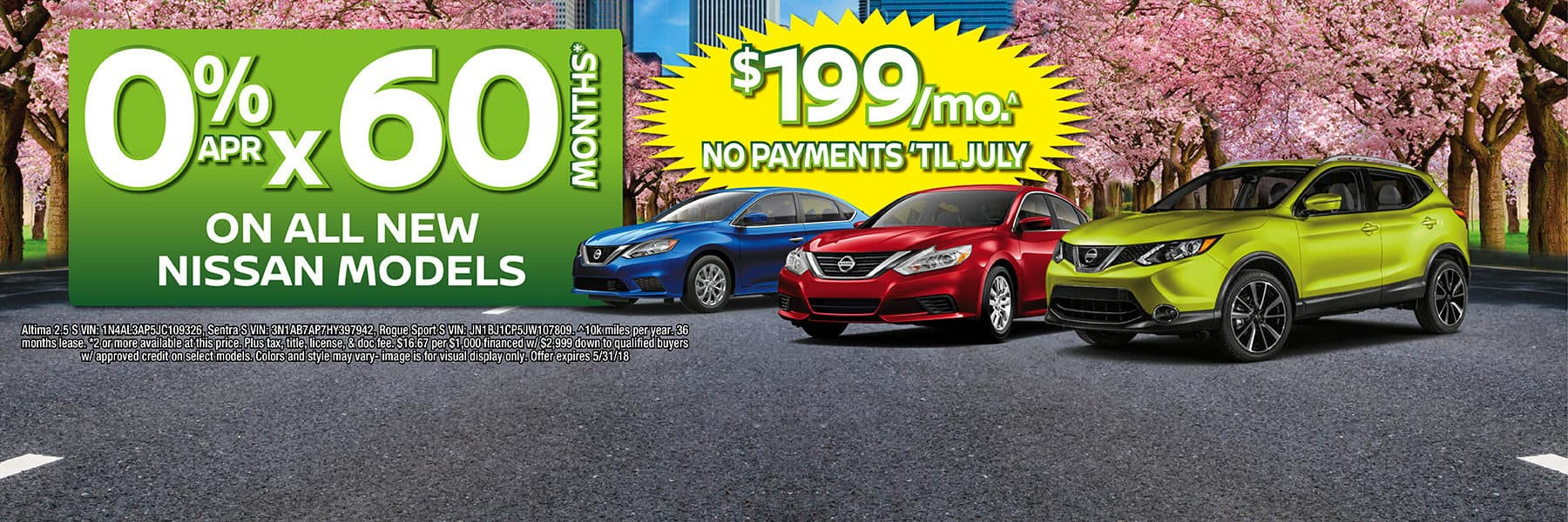 0% APR for 60 Months on All New Nissan Models at Berman Nissan of Chicago!