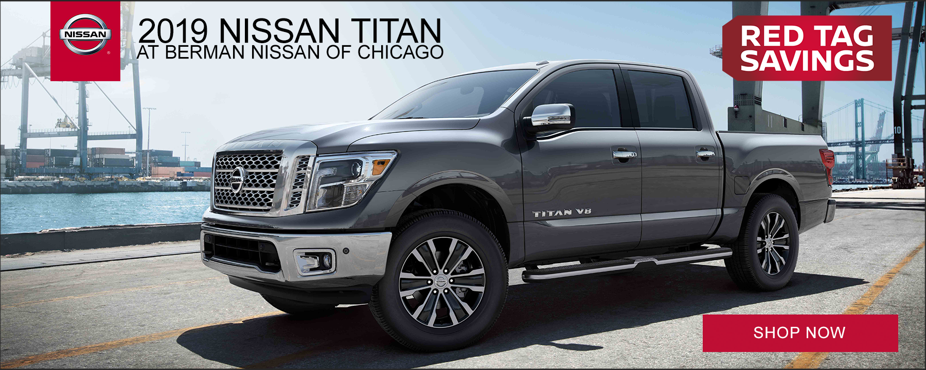 Red Tag Truck Sale on 2019 Nissan Titan at Berman Nissan of Chicago!